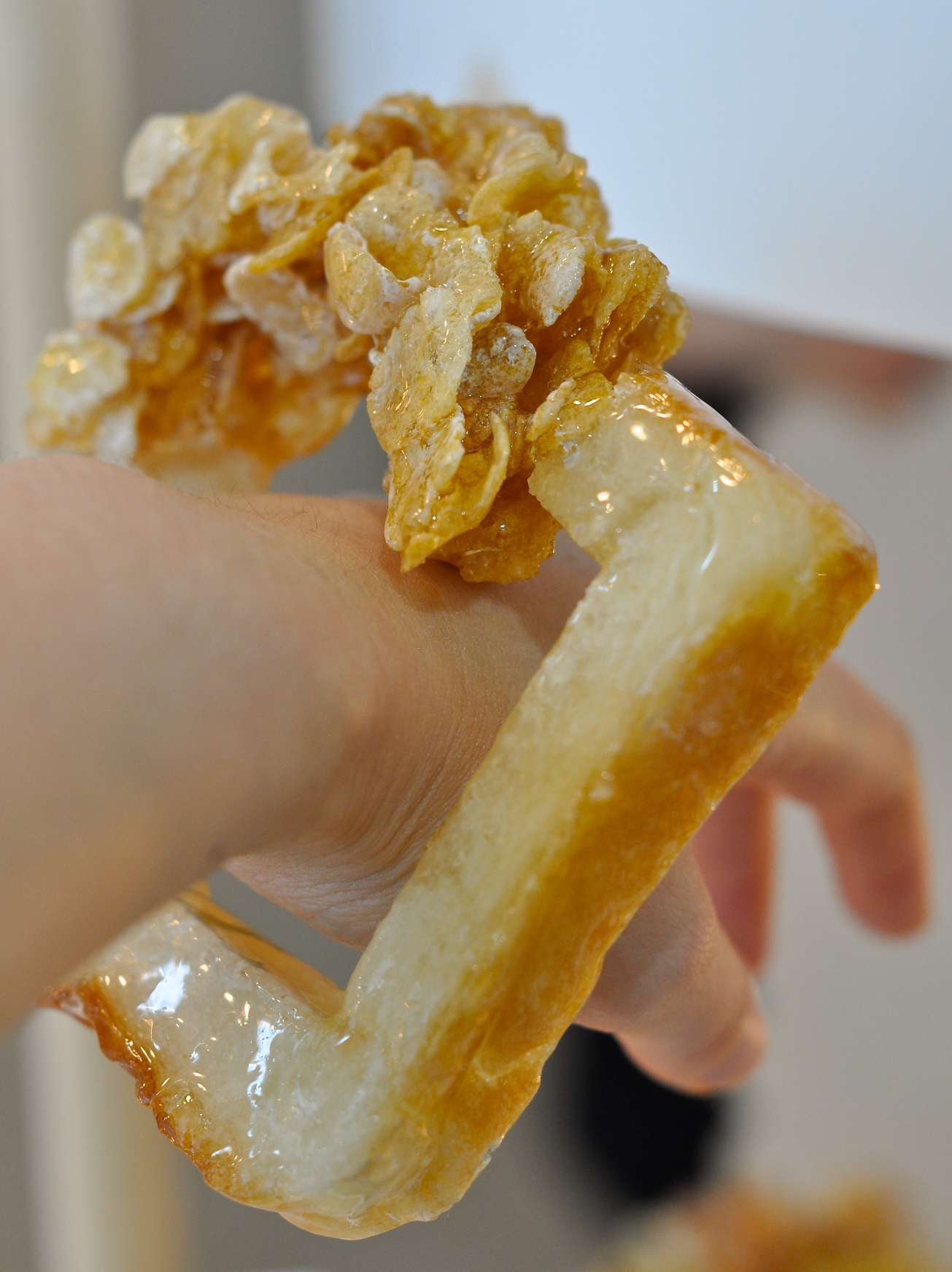 Toast and corn flakes bangle