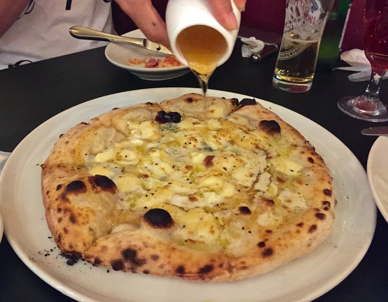 Quattro Formaggi pizza with Honey