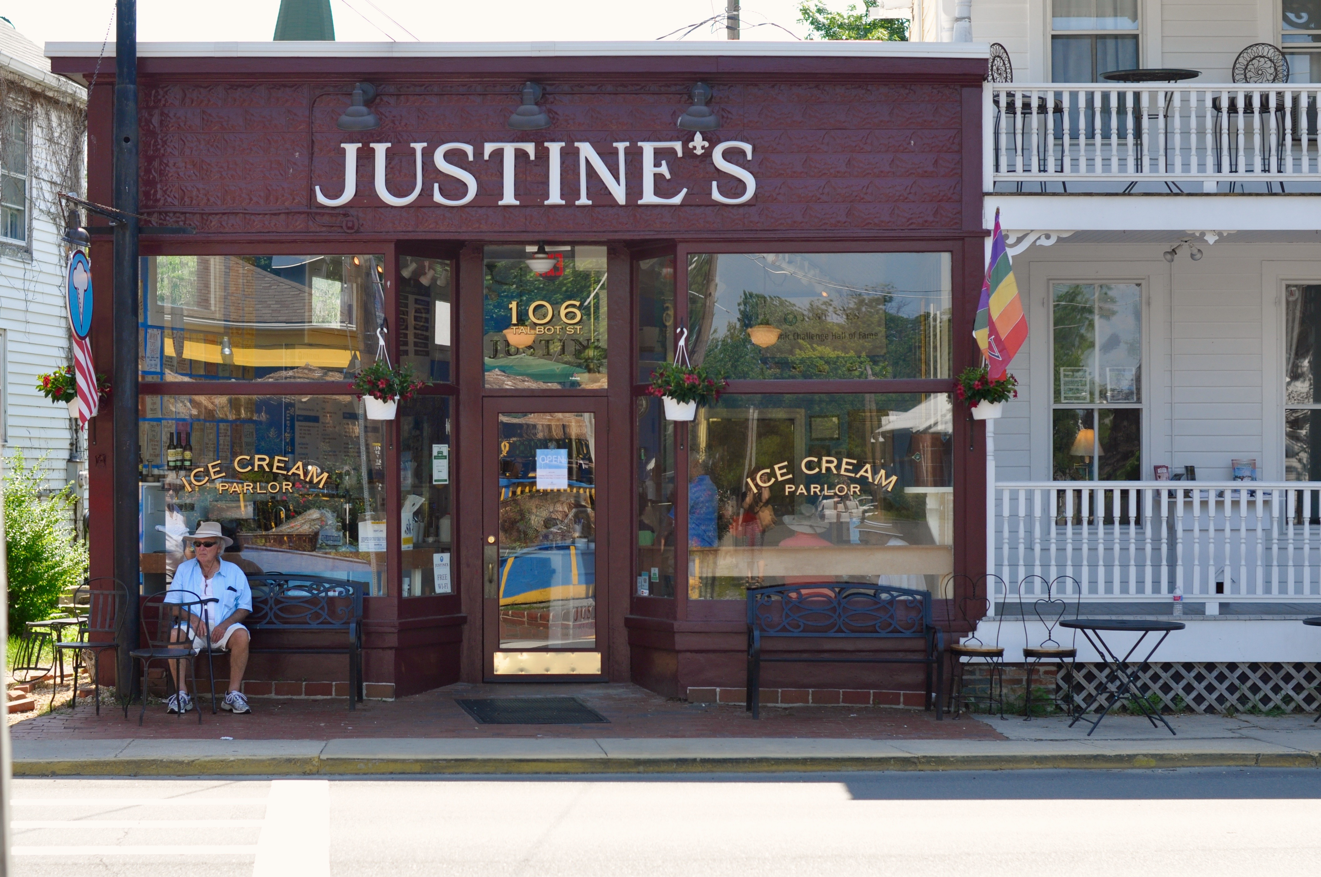 Justine's Ice Cream Parlor in St. Michael's