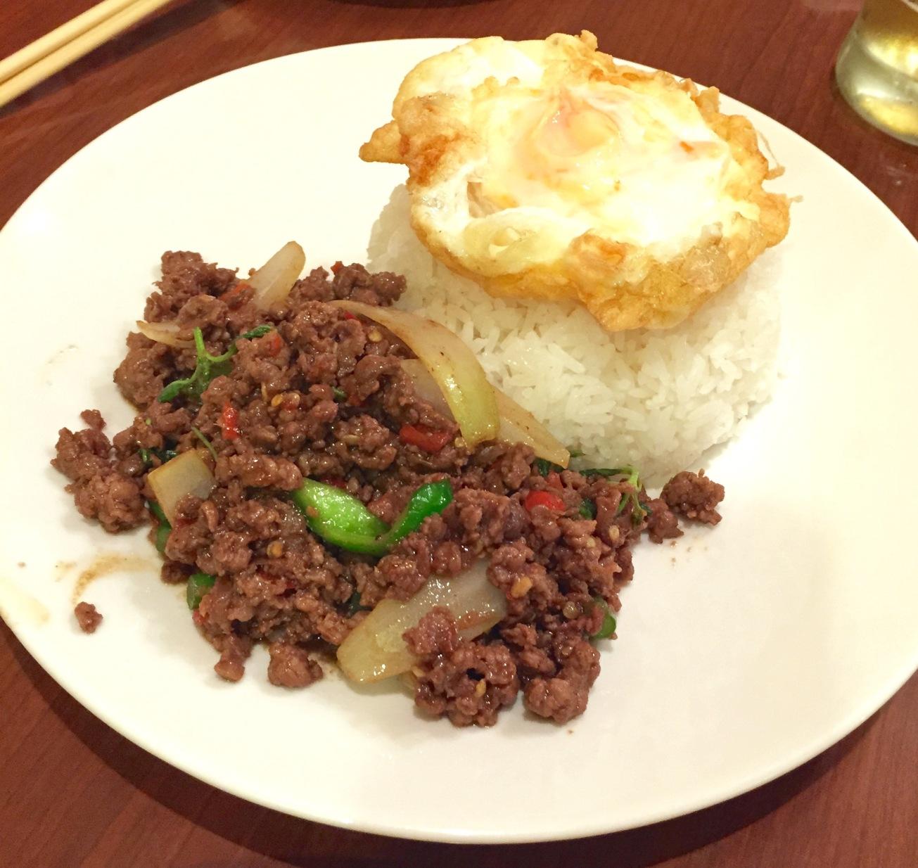 Ka Pow Beef Rice Plate